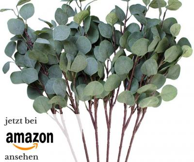 DIY Eucalytus Tischdeko