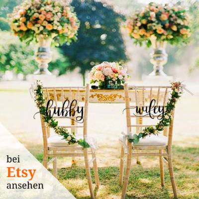 Personalisierte Hochzeitsdeko